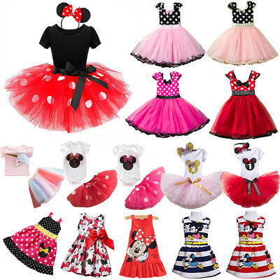 Toddler Kids Baby Girls Cartoon Minnie Mouse Princess Dress Party Costume Outfit
