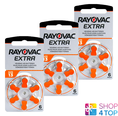 Rayovac Extra Advanced Size 13 Mf Pr48 Hearing Aid Batteries 1.45V Zinc Air