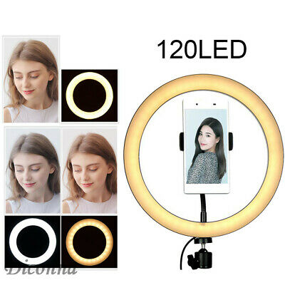 LED Ring Light Dimmable 6500K Lamp Photography Camera Photo Studio Phone Video