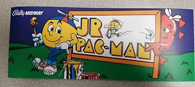 Jr. Pac Man Marquee sticker. 4 x 10. (Buy any 3 stickers, GET ONE FREE!)