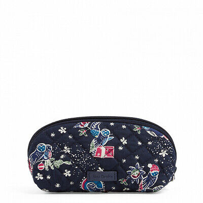NWT Vera Bradley Iconic small Clamshell Cosmetic Case Bag in Holiday Owls R$28