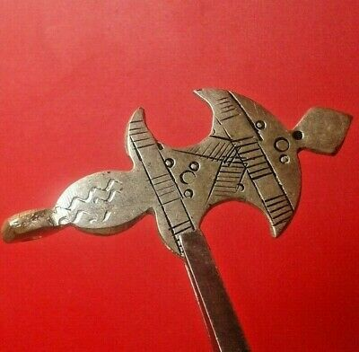 Ancient Viking Norse SILVER Hammer Thor's Axe amulet PENDANT 9-10 AD.cent ! RARE