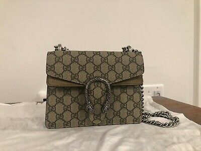 4a39c2a10663 GUCCI DIONYSUS NEW Mini Beige Gg Supreme Canvas Cross Body Bag ...
