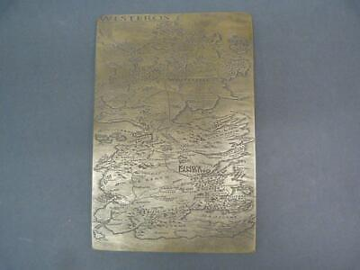 Game of Thrones Westeros map  brass