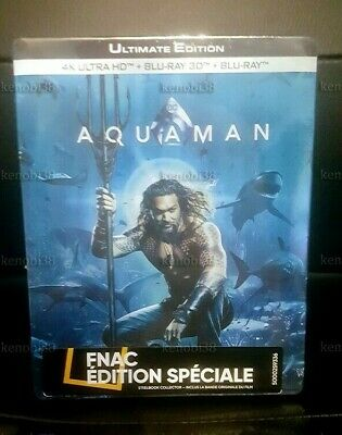 Aquaman Blu-Ray Steelbook 4K Uhd+3D+2D+Ost Fnac Exclusive [France]