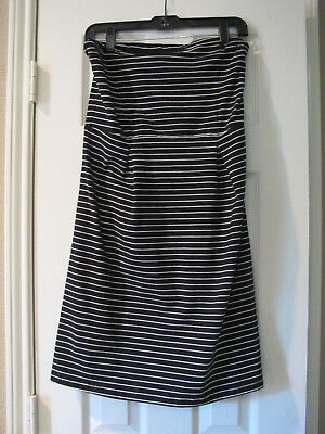 61a37adb Old Navy - NWT - ladies strapless dress - Medium - black/white stripe