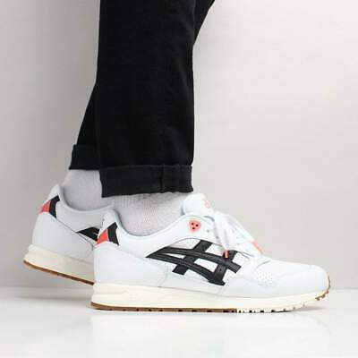 the latest 4ad37 9aa60 ASICS MEN'S NEW Gel Saga Leather Textile Shoes White Black