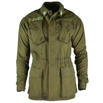 Original Italian army olive green jacket shirt military BDU surplus issue NEW