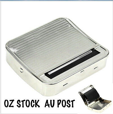 70mm Metal Cigarette Tobacco Easy Roller Roll Rolling Machine Box Case Maker Tin