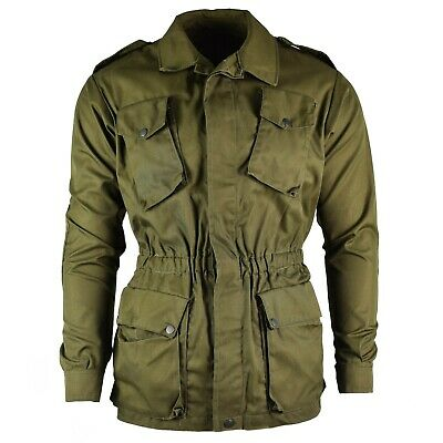 Original Italian army olive OD green jacket shirt military BDU surplus issue NEW