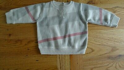 Burberry long sleeve baby boy jumper size 6 months 50% cashmere