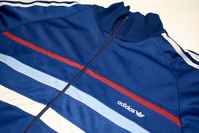 Adidas Trainings Jacke Sport Jacket Track Top Casual Style 80s Vintage Cupro M