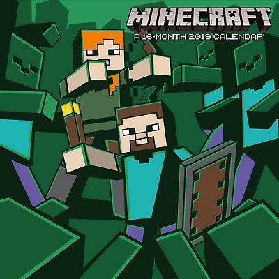 Minecraft Official 2019 Wall Calendar - New & Sealed - FREE P&P