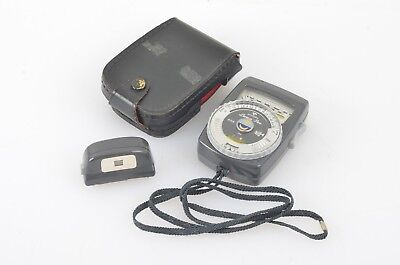 Gossen Luna-Pro Incident Light Meter W/leather Case & Repro Copy Attach. Germany