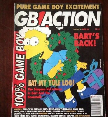 GB ACTION GAME BOY MAGAZINE Christmas 93, Issue 20