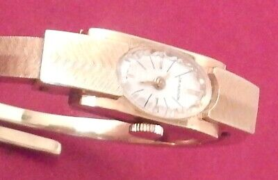 Vintage JB HUDSON CO Swiss Made Art Deco Lady's Watch 10 MICRON Gold Plated