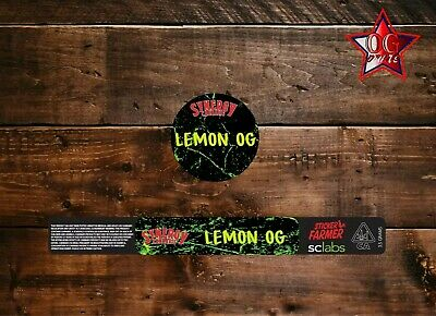 10x Snergy Lemon OG 100ml Cali Tin labels