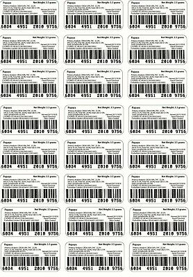 24x Cali Barcode labels for mylar bags(PUT STRAIN NAME IN NOTES)