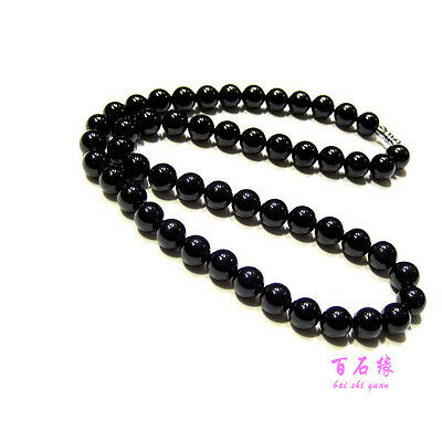 Black Obsidian Needle Stone necklace Beads exquisite handmade pendants Chain 8mm