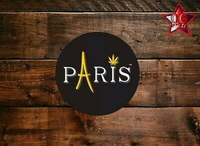 10x Real Paris OG Cali Tin 60ml JAR Labels Stickers
