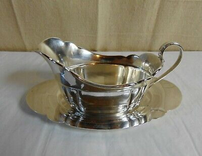 Wallace Sterling Silver Gravy Boat Bowl and Underplate Tay 212