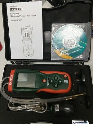GOOD USED Extech HD700 Differential Pressure Manometer