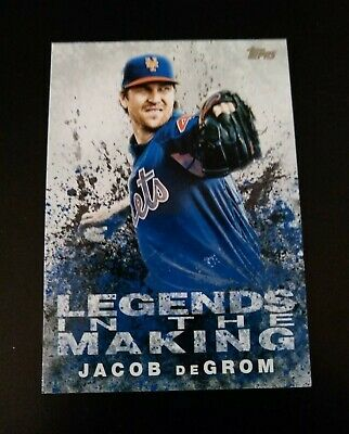 Baseball Card Lot Jacob Degrom 2018 Releases New York Mets Lot Of 3