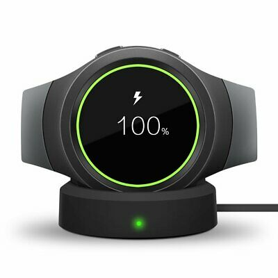 US Wireless Charging Dock Cradle Charger For Samsung Gear S2 S3 Smart Watch d