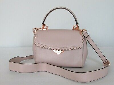 925d6cf28233 Michael Kors Ava Extra Small Soft Pink Leather Crossbody Shoulder Bag   228.00