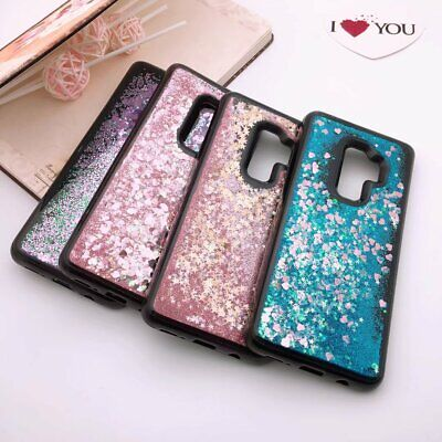 Shockproof Liquid Bling Glitter Soft TPU Case Cover for Samsung Galaxy S9 Plus