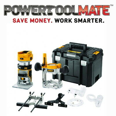 "Dewalt DCW604NT 18V XR Brushless ¼"" Router With Fixed & Plunge Bases"
