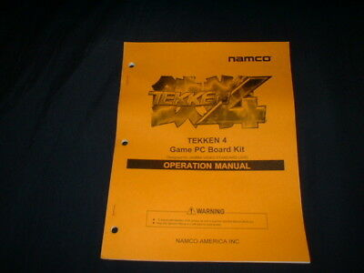 tekken 4 board kit-namco orig  manual-l@@k!