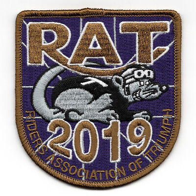2019 Riders Association of Triumph Motorcycles RAT Patch Badge