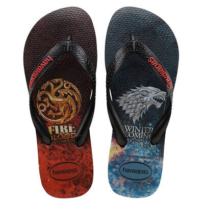 6fbad8c01b0a HAVAIANAS NEW MEN S Top Game Of Thrones Flip Flops - Black BNWT ...