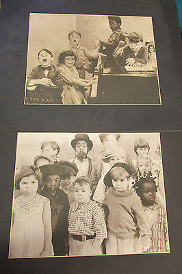 Lot of 2 Our Gang The Little Rascals 16 x 20 Sepia Tone Picture Print Matted
