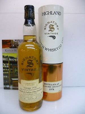 Dallas Dhu 1978 23y Signatory Vintage Sherry Butt 43% 70cl mit Tube DD-121218
