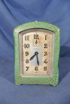 Vintage French Bayard Bayard Art-Deco 8 day Alarm Clock for repair