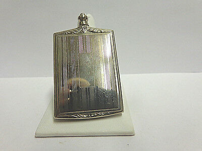 vintage perfume bottle sterling silver wgt 22 grams sz 2.50 in tall