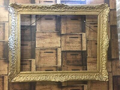 STUNNING ANTIQUE 19th CENTURY ORNATE GILT GESSO FRAME With SCROLLWORK