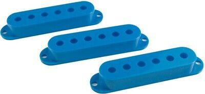 Fender Stratocaster Strat Style Guitar Pickup Covers Set Of 3 (Blue) *new*