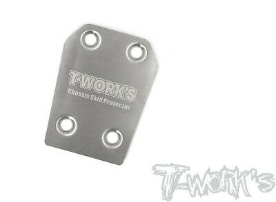 T-Works Skid Plate Posteriore in Acciaio per Associated RC8B3.1 (1) - TO-220-RC8