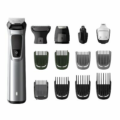 Philips MG7720 Groming Kit Serie 7000 Rifinitore Impermeabile in Acciaio 14 in 1