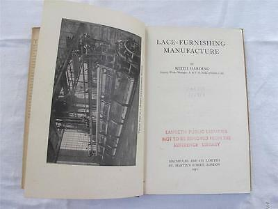 Vintage 1950s Book - Lace Furnishing Manufacture by Keith Harding