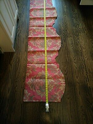 Antique French Brocade Curtain Valance