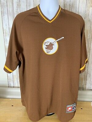 921174bd6df82 San Diego Padres Nike Cooperstown Collection Throwback Jersey Shirt Large  (A98)