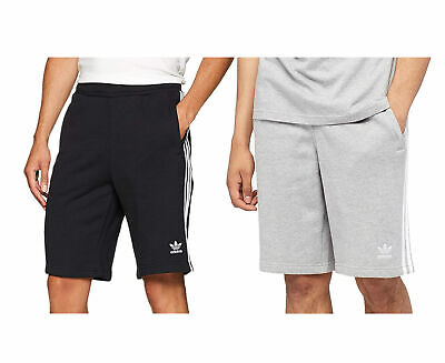 ADIDAS ORIGINALS 3 STRIPES Mens Fleece Shorts Trefoil Summer Casual Bermuda