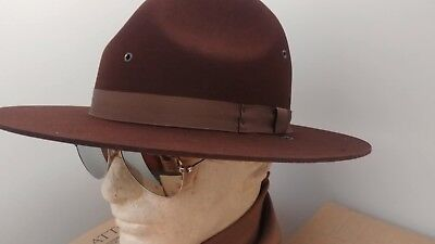 d24220cd NEW STRATTON BROWN Felt Summer Campaign Hat 6 7/8