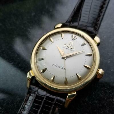 OMEGA Men's 18K Solid Gold Seamaster Automatic, circa 1950s Swiss Luxury LV541