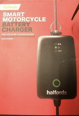 1 Halfords Motorcycle Battery Smart Maintenance Charger For 6V 12V Motorbikes