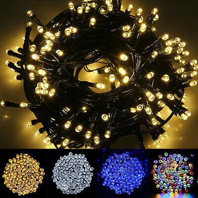 LED Solar Powered Fairy Lights String Party Xmas Garden Outside Room Decoration